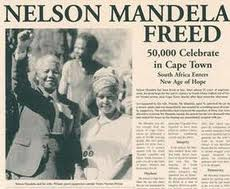 Nelson Mandela, free at last.