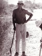 Nelson Mandela at Robben Island.
